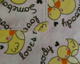Burp Cloth - Somebody Loves Me Pink