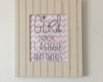 Girl definition in pink printable