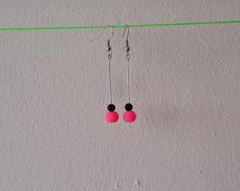 Earrings Rose Fluo