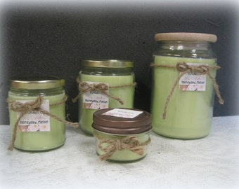 Green Honeydew Melon Soy Candles