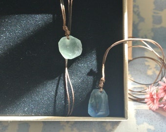 Necklace with Pendant | Fuorite Stone |