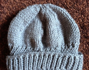 Grey rolled brim boy's hat