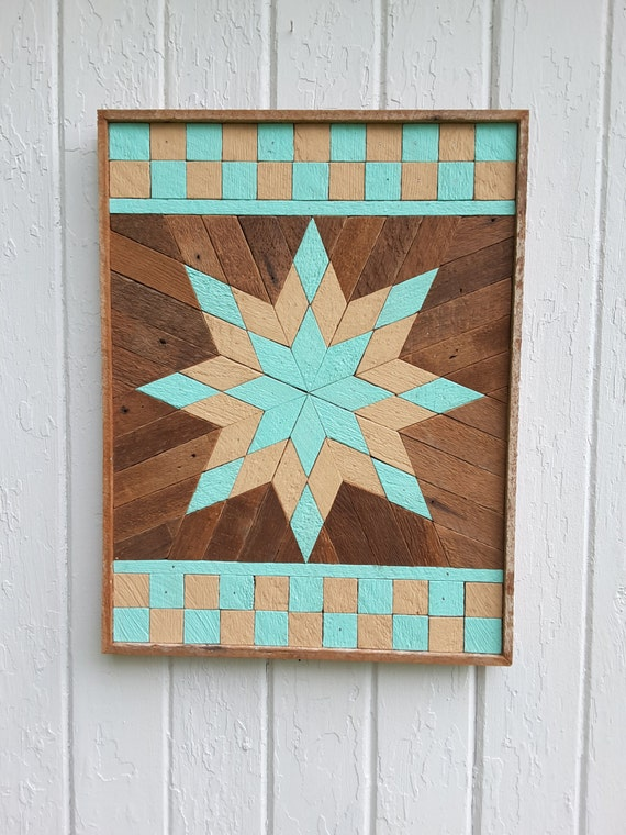 Wooden Star Wall Decor reclaimed wood wall art lath art painted star wall decor