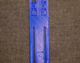 Doctor who 3D printed bookmark
