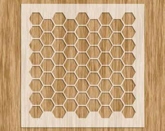 Mini Series Stencil - Honeycomb/Hexagon Pattern Sku# P0100M