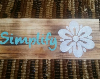 Handmade, Handpainted cute sign