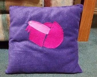 Purple Halfmoon Betta Fish Pillow