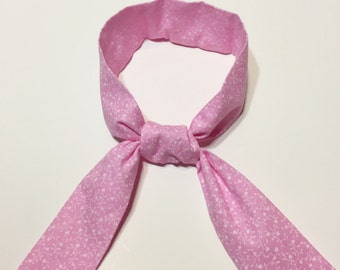 Pink Carnation Kool Tie - Neck Cooling Wrap - Reusable Neck Scarf - Cool Active Wear - Breast Cancer Cool Tie