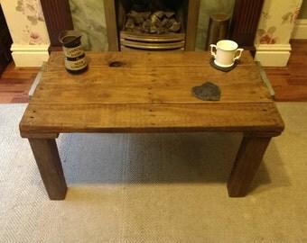 chunky reclaimed wood coffee table