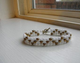 Handmade seed bead bracelet