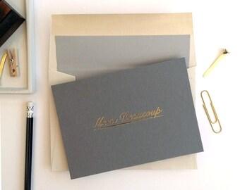Merci Beaucoup - single notecard