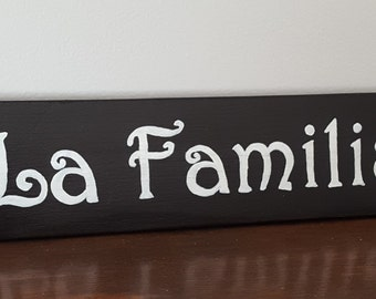 La Familia- Spanish signs and Quotes, Spanish signs, Spanish wall hangings, Spanish Home Decor, Home and living,Black friday,Gift for family