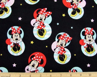 Disney Fabric- Minnie Mouse Fabric- Minnie Mouse Badges Fabric From Springs Creative