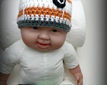 Crochet Baby BB-8 Inspired Hat (0-3 months)