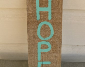 Hope Hand-Painted Wood Sign
