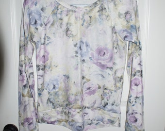 Floral pastel sweater tshirt