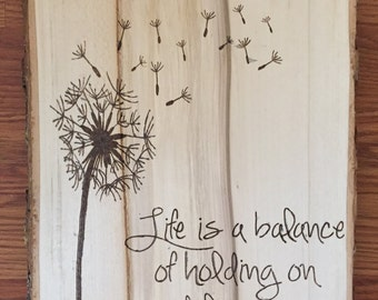Life is balance dandelion wall art