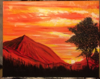 Red Mountains Sunset
