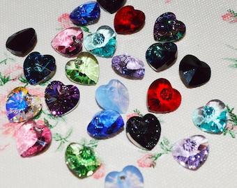 Add-On!: Swarovski Crystal Hearts