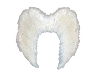 Halloween Large White Angel Feather Wing