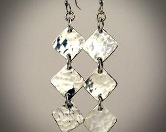 Diamonds in the Sky - Sterling Silver earrings