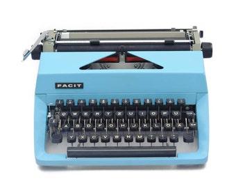 Light blue typewriter Facit