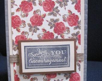 Rose Encouragement Card