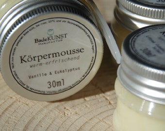 "Body mousse - whipped body cream - ""tangy tart"""