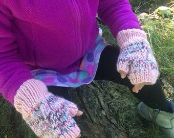 Kids' Fingerless Gloves (4-8 yrs old)