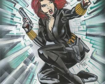 Black Widow Painting