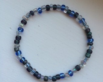 Beaded Stretch Bracelet (Ocean Blue)