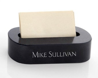 Personalized Marble Business Card Holder -  Desk Accessories - 3334BCR