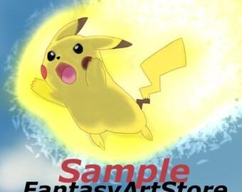 Pikachu Thunder - Pika Print