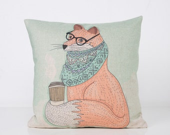 Fox Cushion Cover Pillow Case