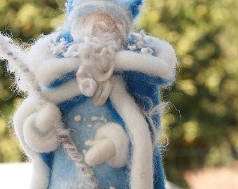 Waldorf Inspired Needle Felted King Winter for Nature Table