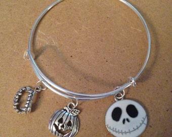 Jack the Pumpkin King bracelet Nightmare before Christmas Silver Plated bracelet