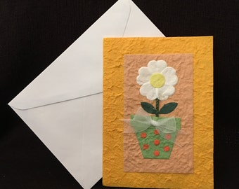 Flowers and Card, All Occasion, Homemade, Flower Gift Card, Birthdays, Mother's Day, Weddings