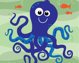 Nursery Art: Octopus Print