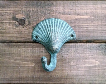 Shell Hook | Seashell Hook | Cast Iron Hook | Coastal Hook | DIY Supply | Beach Decor