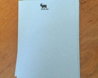 Letter Press: Billy Goat 3 1/2 X 4 flat card