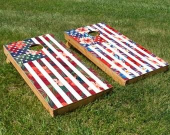 A-loha-merica Cornhole Board Set