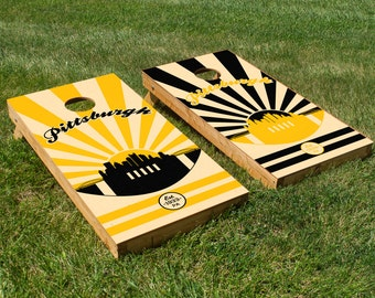 Pittsburgh Steelers Cornhole Board Set