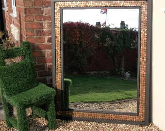 Nice Mirrors  Etsy Uk With Interesting Extra Large Industrial Wall  Floor Wood Frame Mirror Reclaimed Adorned  With Copper Coins With Appealing The Gardens On Forest Also Roses Garden Centre In Addition Webbs Garden Supplies And X Garden Shed As Well As Unique Garden Ornaments Uk Additionally Covent Garden Tube Line From Etsycom With   Interesting Mirrors  Etsy Uk With Appealing Extra Large Industrial Wall  Floor Wood Frame Mirror Reclaimed Adorned  With Copper Coins And Nice The Gardens On Forest Also Roses Garden Centre In Addition Webbs Garden Supplies From Etsycom