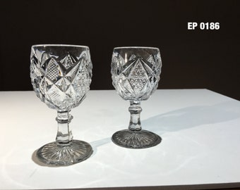 Set of two vintage cordial glasses,