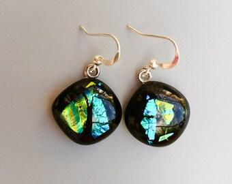glass fused glass earrings