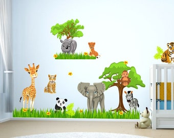 088 tattoo Zoo jungle animals animals lion elephant savanna tree Panda Rhinoceros Tiger Kangaruh * nikima * in 4 verse. Sizes