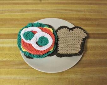 Crochet Play Food Sandwich