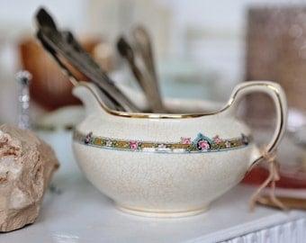 Cream Pitcher Vintage tea set piece D. E. McNicol East Liverpool O