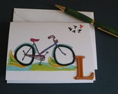 Bicycle Note Card, Tour De France, Bike Racing, Cross Country, Stationary Bike