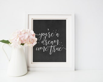Inspirational Quote Print, Gift for Her, Typography Prints, Typography Art, Anniversary Gift, Modern Wall Art, Digital Art, Wall Decor